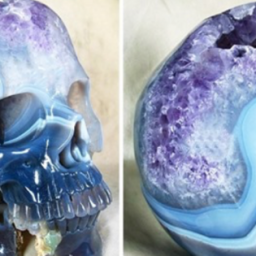 Creepy Realistic Human Skulls Carved From Crystal And Gemstone Are Incredible